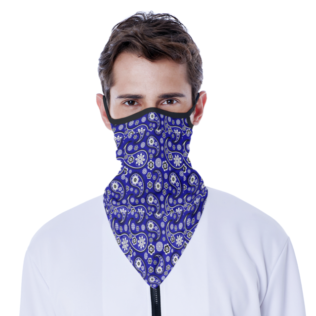 All-Over Print Face Mask Bandana with Ear Loops